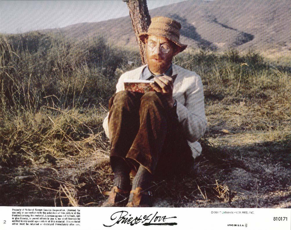 Image for Ian McKellen sitting under tree Priest of Love lobby card 1981