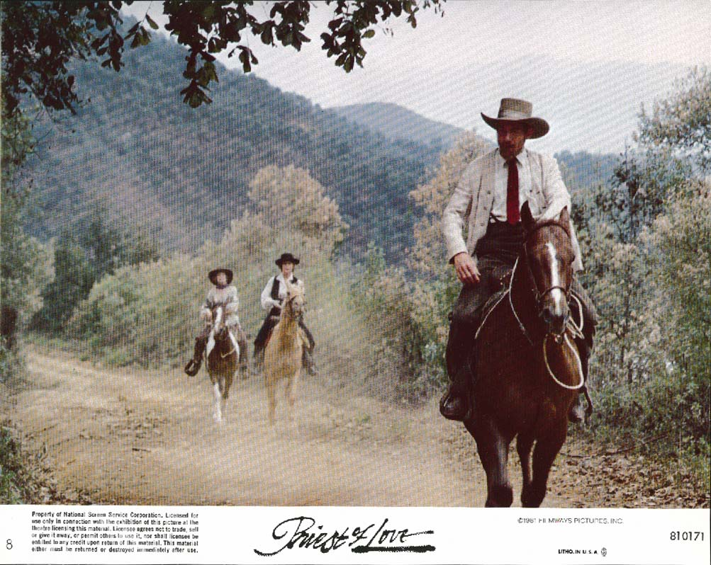 Image for Ian McKellen on horse Priest of Love lobby card 1981