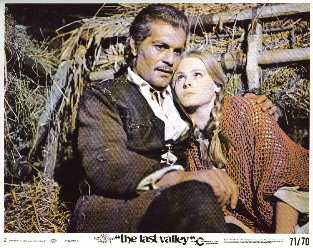 Image for Omar Sharif The Last Valley lobby card 1970