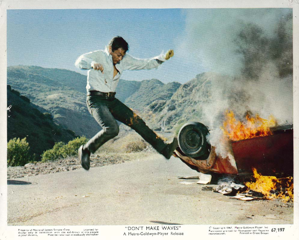 Image for Tony Curtis Don't Make Waves lobby card 1967