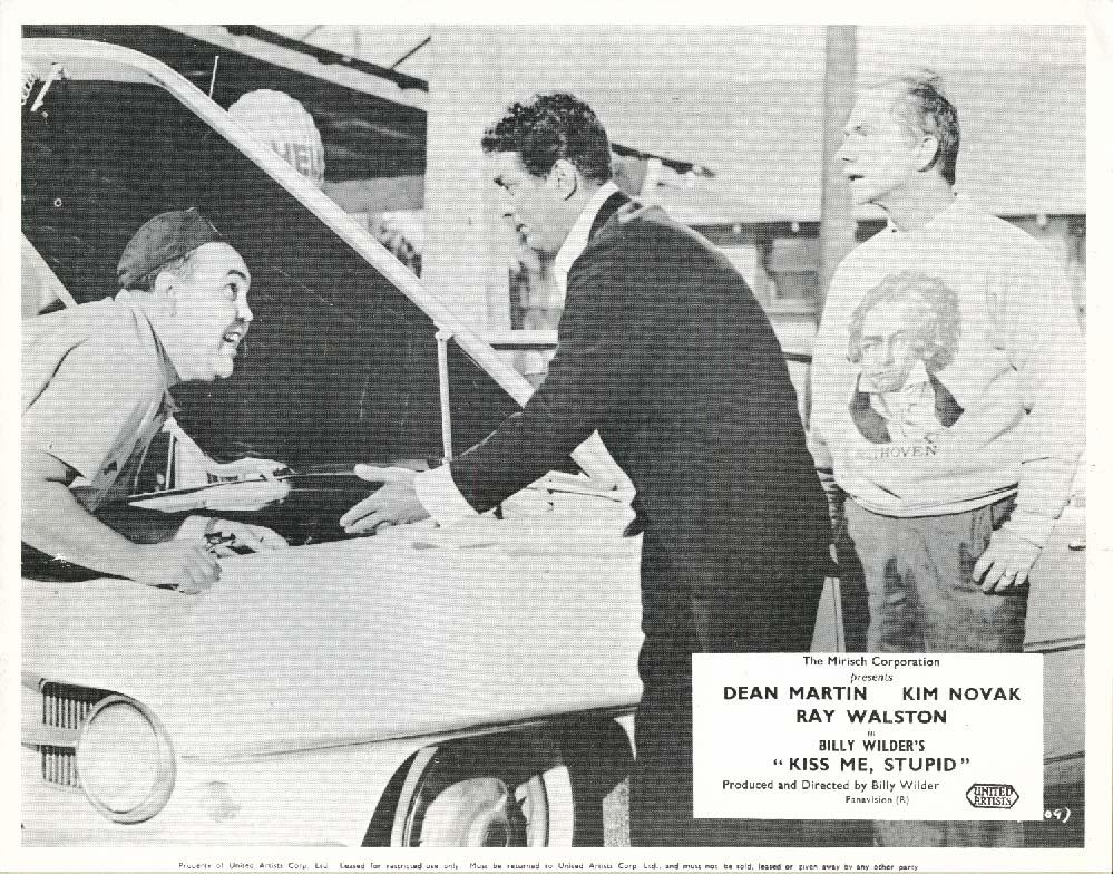 Dean Martin Ray Walston Kiss Me, Stupid lobby card 1964