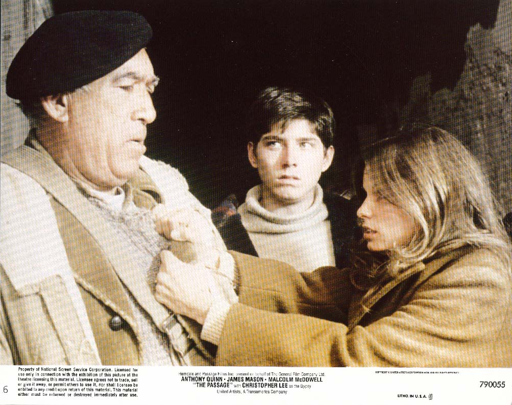 Anthony Quinn Kay Lenz The Passage lobby card 1979
