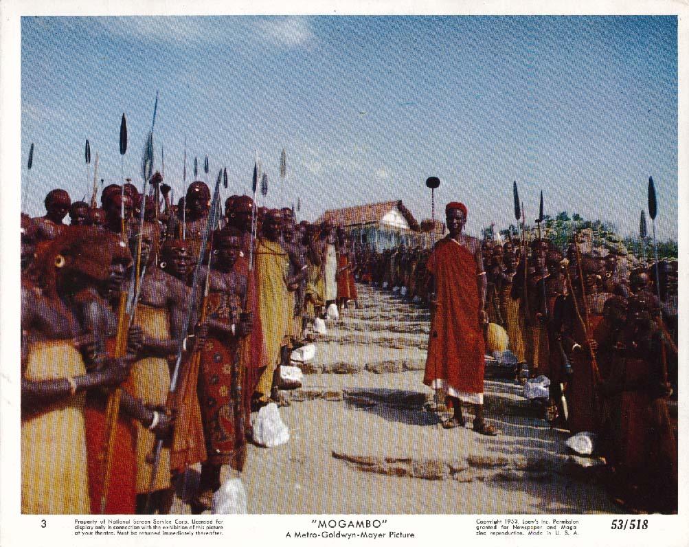 Mogambo tribal scene lobby card 1953