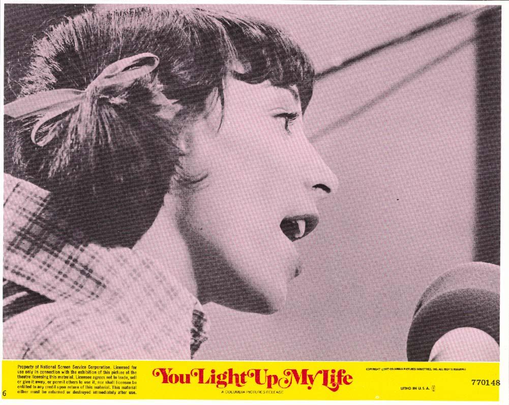 Didi Conn singing You Light Up My Life lobby card 1977