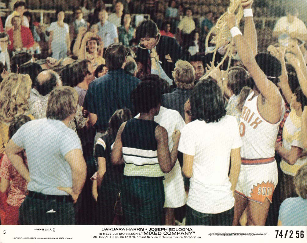 Joseph Bologna Mixed Company basketball lobby card 1974