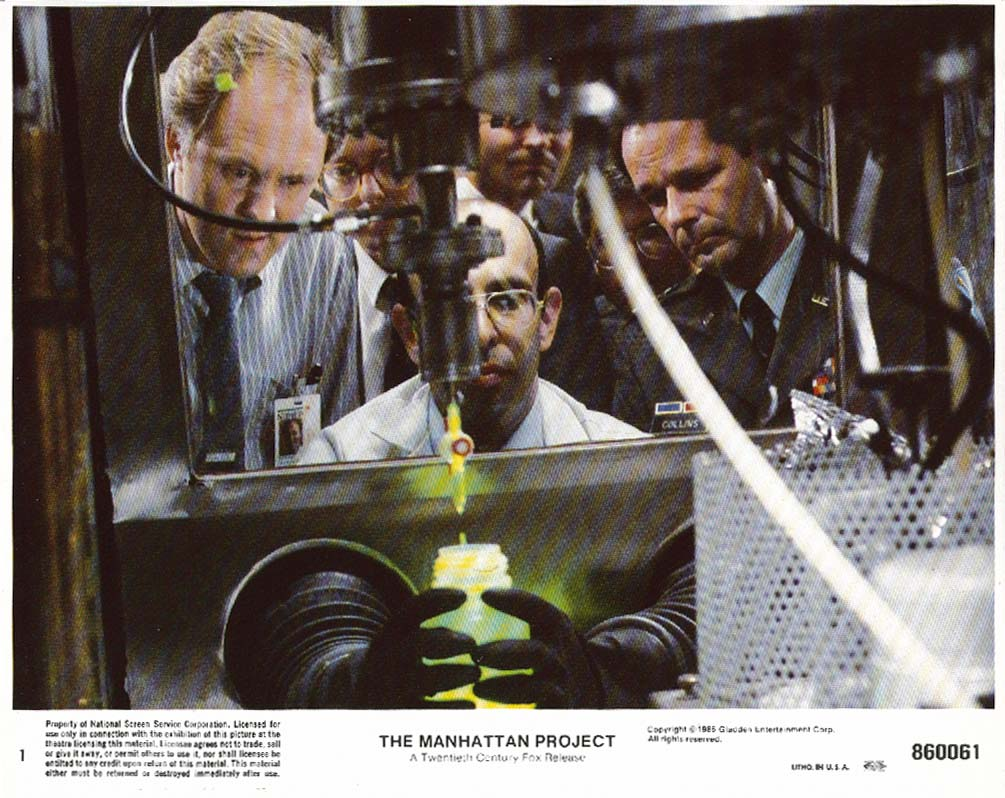 John Lithgow The Manhattan Project lobby card 1986