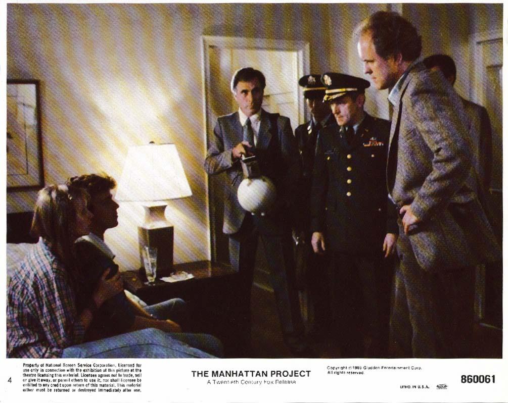 Cynthia Nixon Lithgow Manhattan Project lobby card 1986