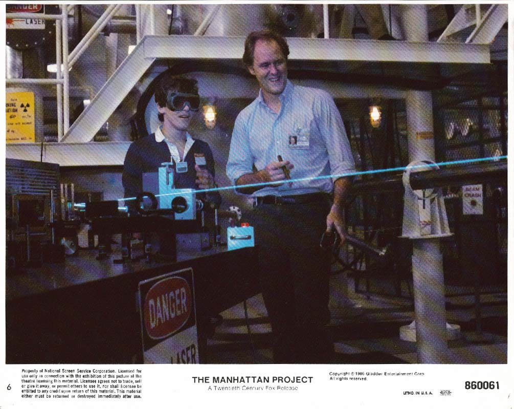 John Lithgow Manhattan Project laser lobby card 1986