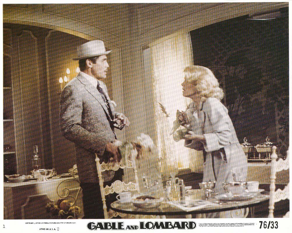 Brolin Clayburgh Gable and Lombard lobby card 1976