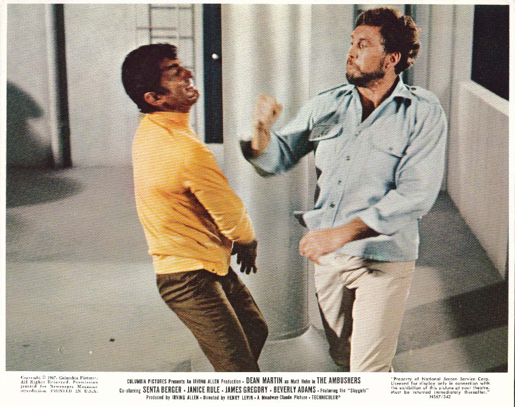 Dean Martin punched The Ambushers lobby card 1967