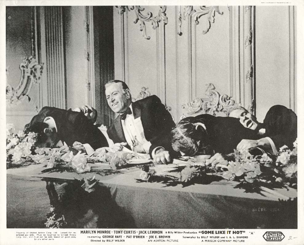 George Raft Some Like It Hot lobby card 1959