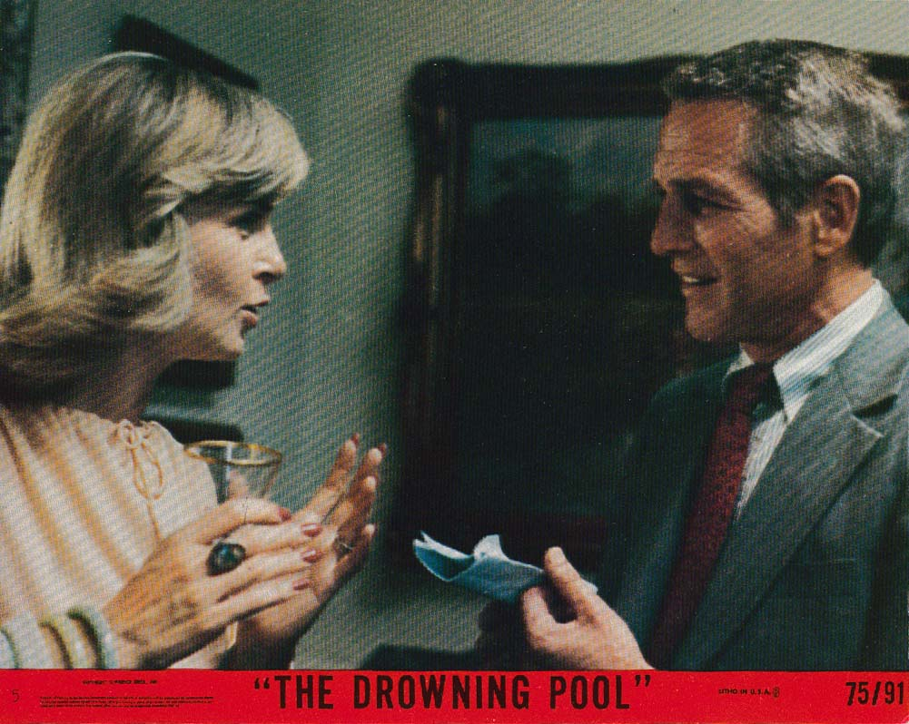Joanne Woodward Paul Newman Drowning Pool lobby card 1975