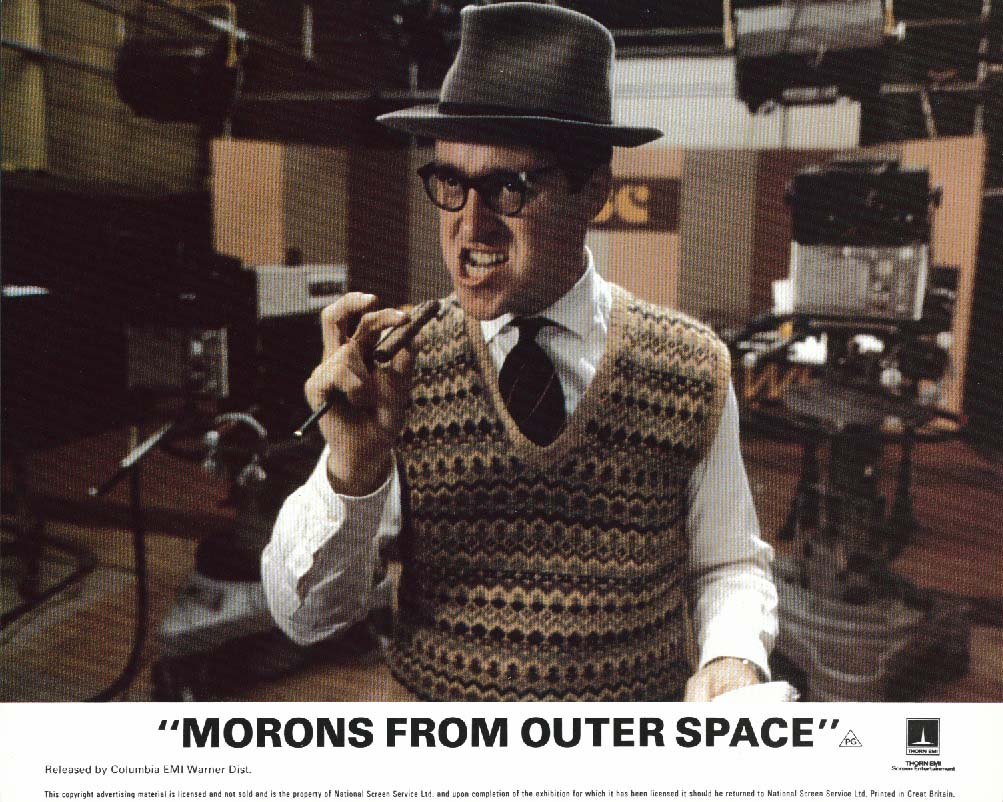 Morons from Outer Space TV director lobby card 1985