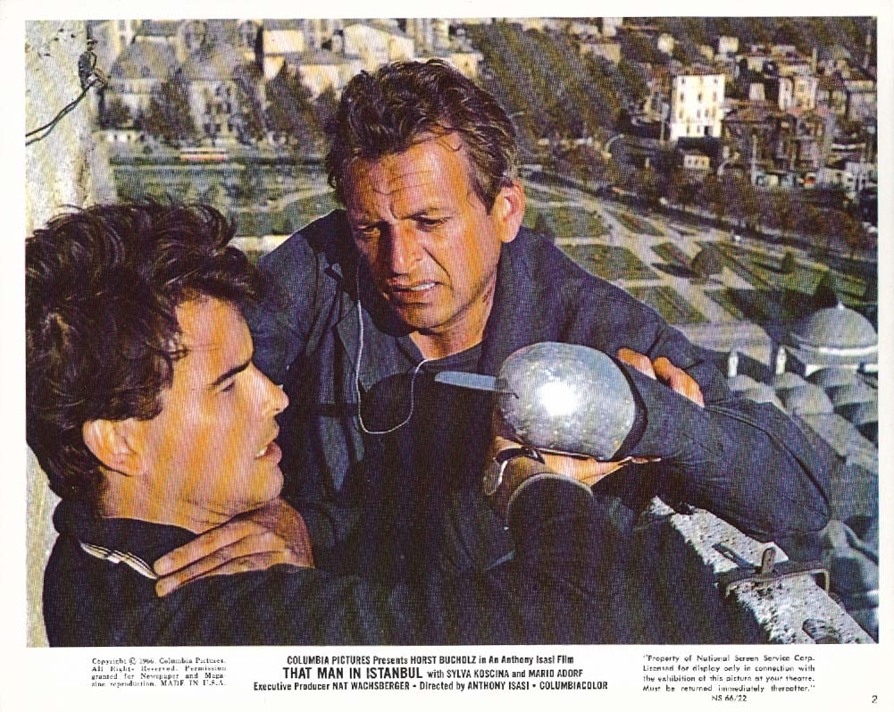 Horst Bucholz That Man in Istanbul claw lobby card 1966