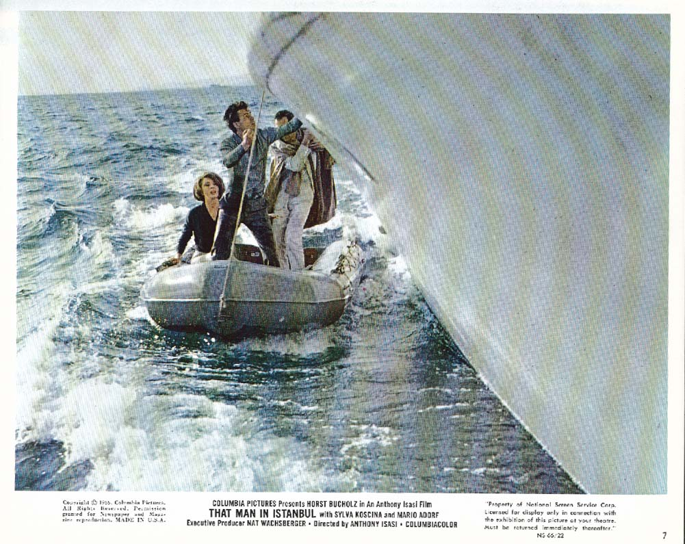 Horst Bucholz That Man in Istanbul boat lobby card 1966