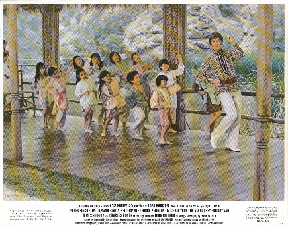 Lost Horizon children dancing scene lobby card 1972