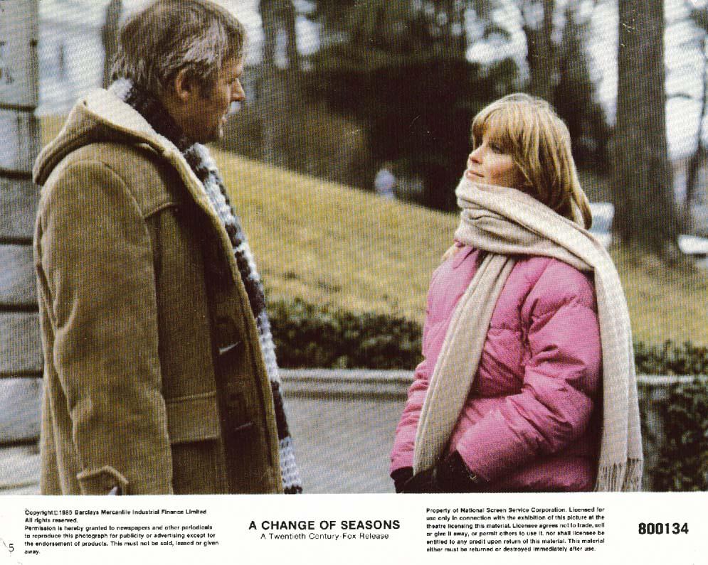 Bo Derek in scarf Anthony Hopkins A Change of Seasons lobby card 1980