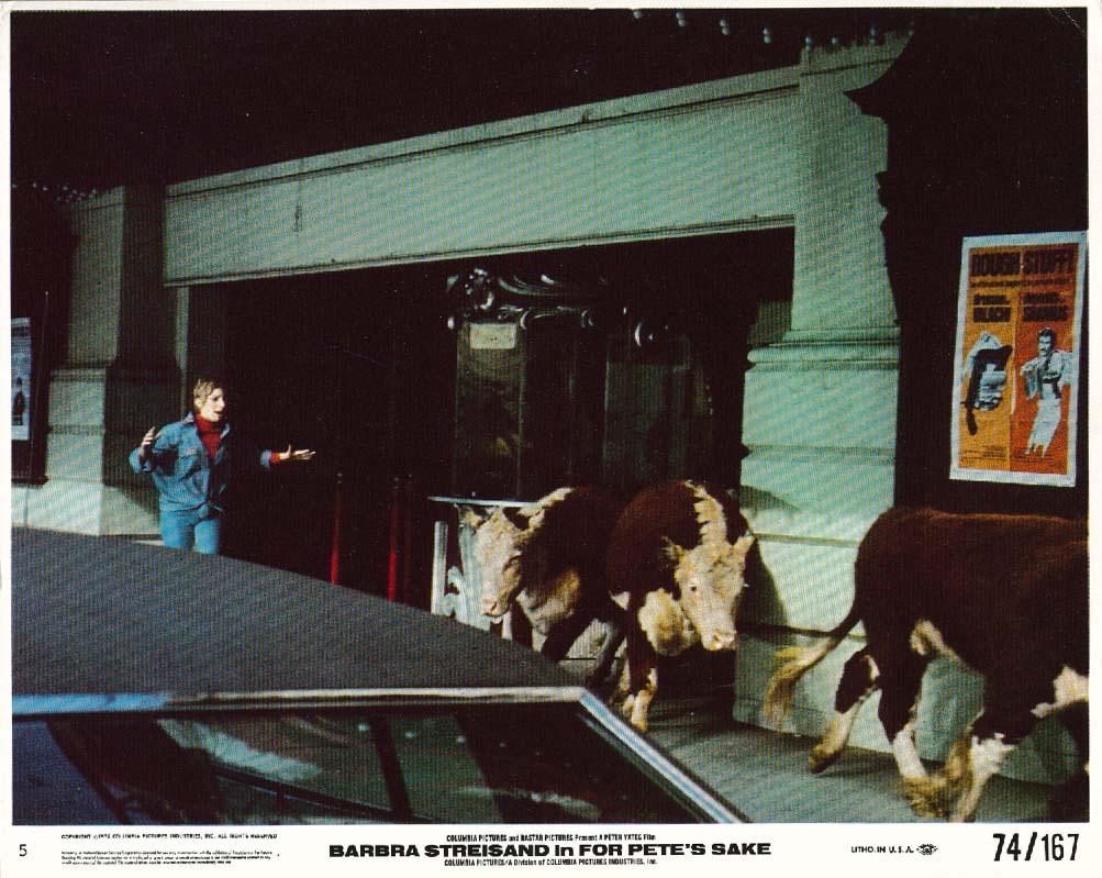 Barbra Streisand For Pete's Sake cows lobby card 1974