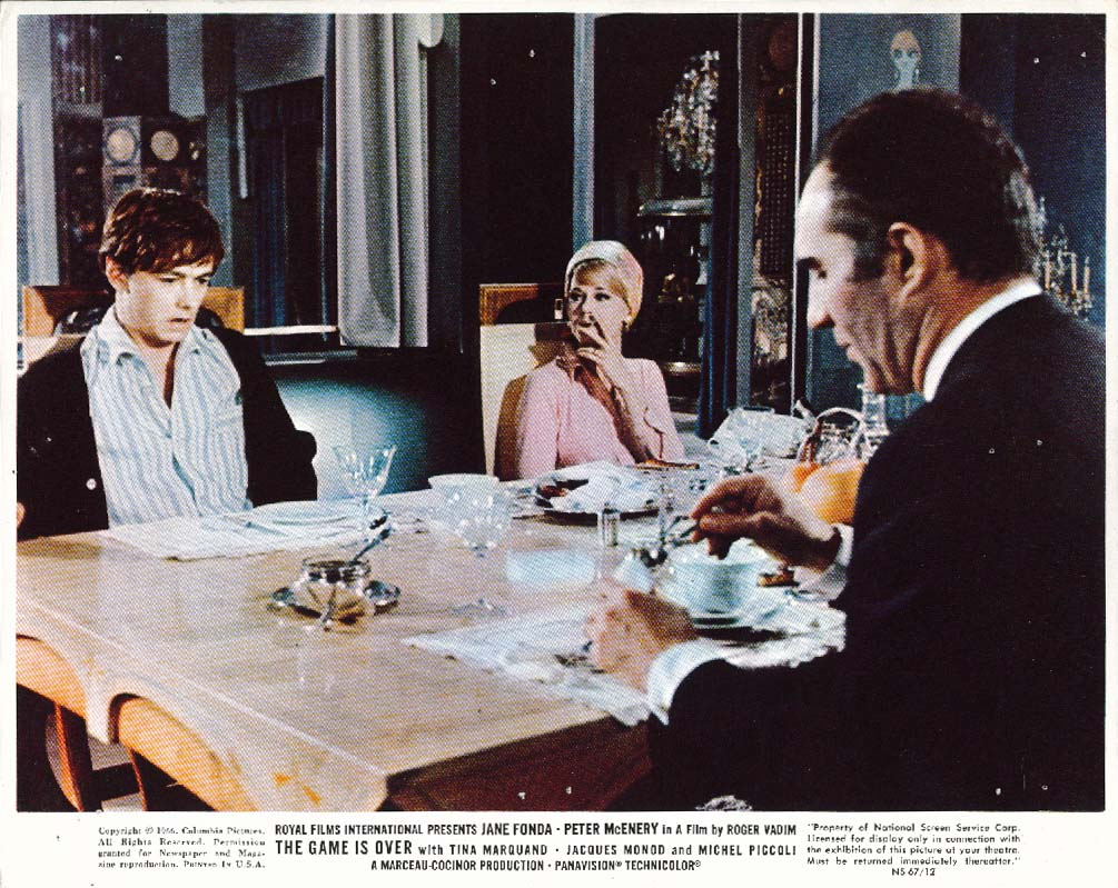 Jane Fonda The Game is Over lobby card 1966