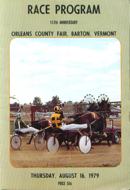 Orleans County Fair Barton Vermont Race Program 8/16/1979