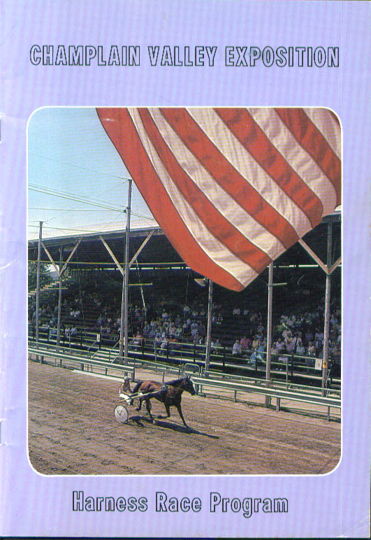 Champlain Valley Expo Essex Junction Vermont Race Program 1980