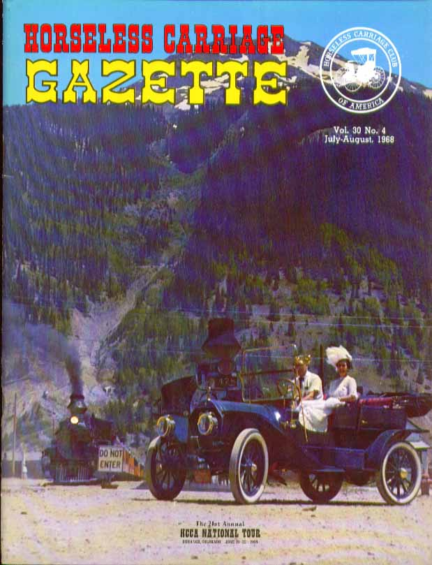 HORSELESS CARRIAGE GAZETTE 1930s Packard Firestone Motor Buggy 7 1968