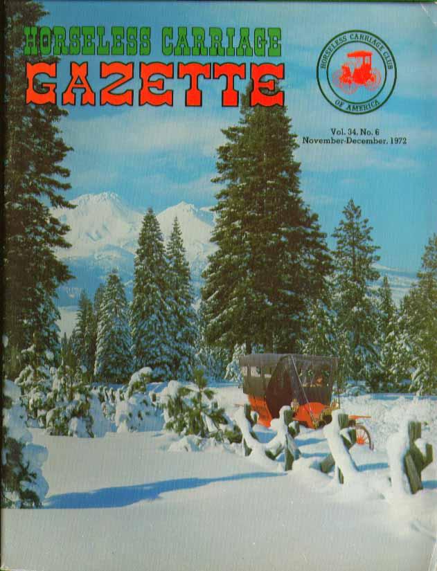 HORSELESS CARRIAGE GAZETTE Patriot Motor Trucks 11 1972