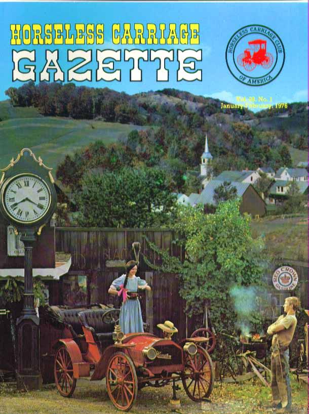 HORSELESS CARRIAGE GAZETTE Oliver Evans Orukter Packard 1 1976