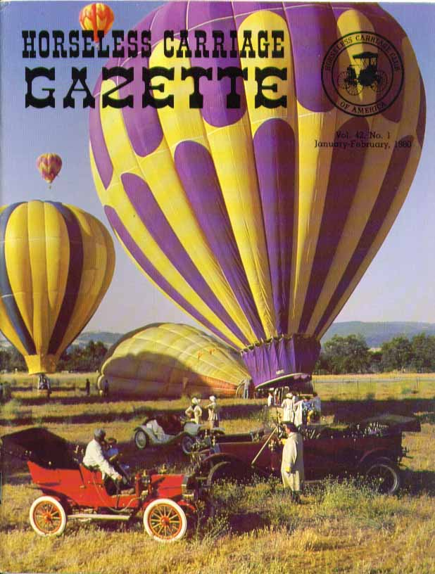 HORSELESS CARRIAGE GAZETTE Sonora 1909 Hupmobile Model 20 + 1 1980
