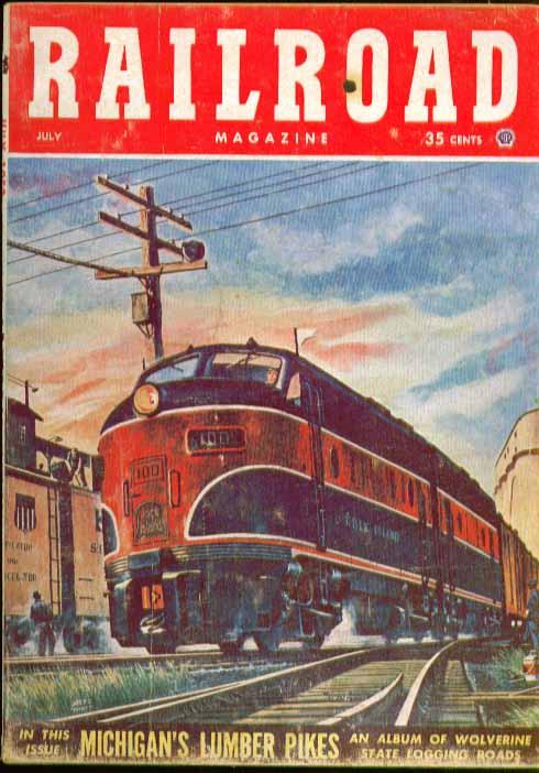 RAILROAD Cotton Belt Portland ME Hudson Division + 7 1953