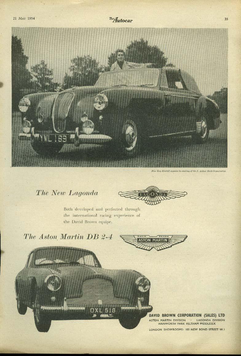 Kay Kendall for Lagonda & Aston Martin DB 2-4 ad 1954