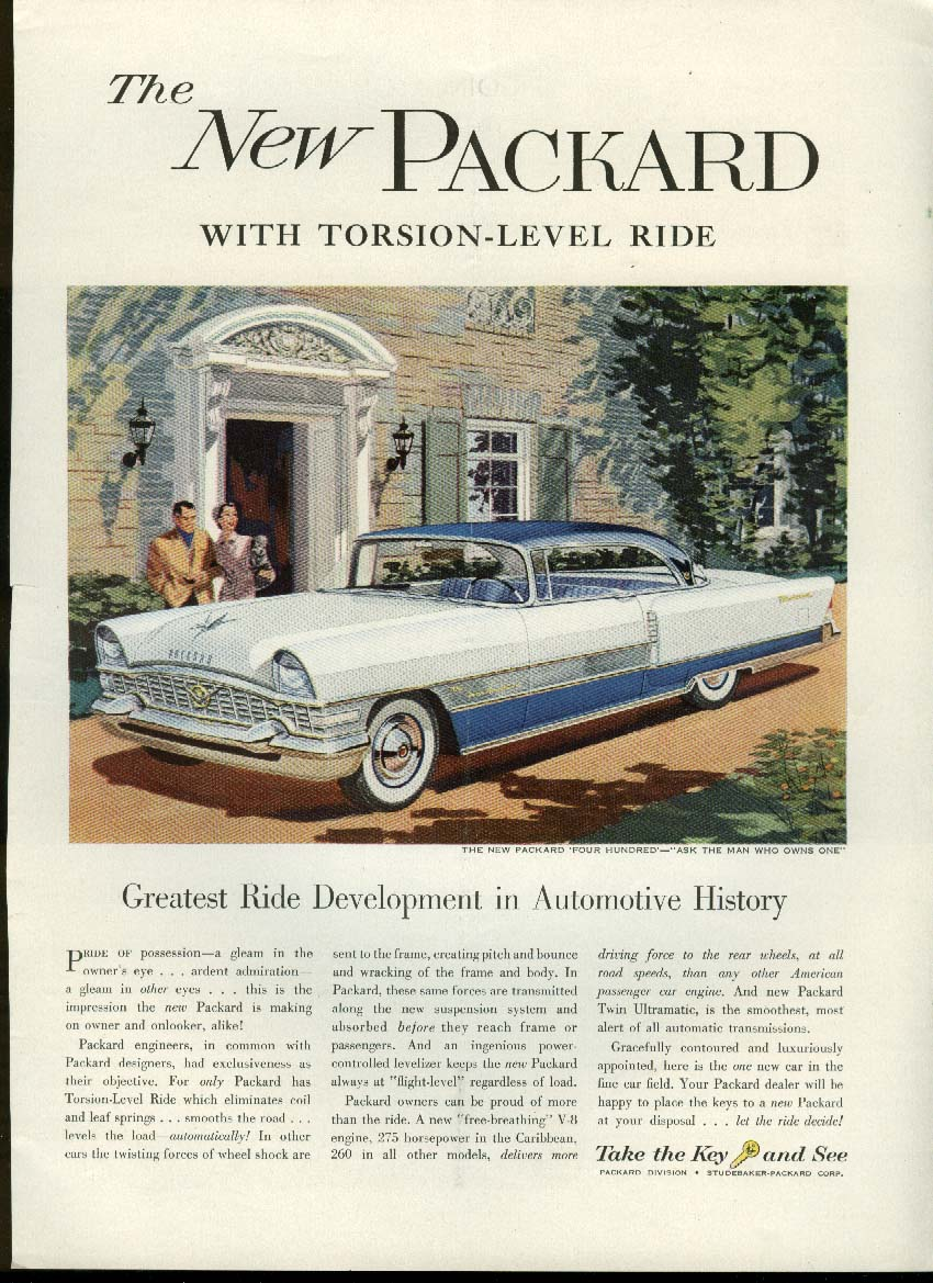 Greatest Ride Development in Automotive History Packard 400 ad 1955 New Yorker