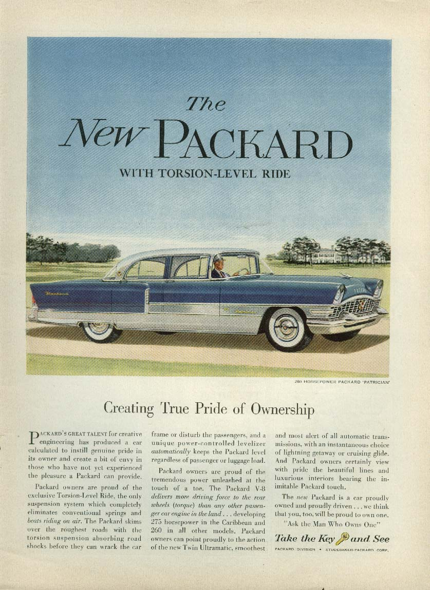 Image for Creating True Pride of Ownership Packard Patrician ad 1955