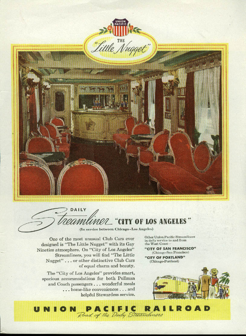 Little Nugget Daily Streamliner City of Los Angeles Union Pacific RR ad 1948