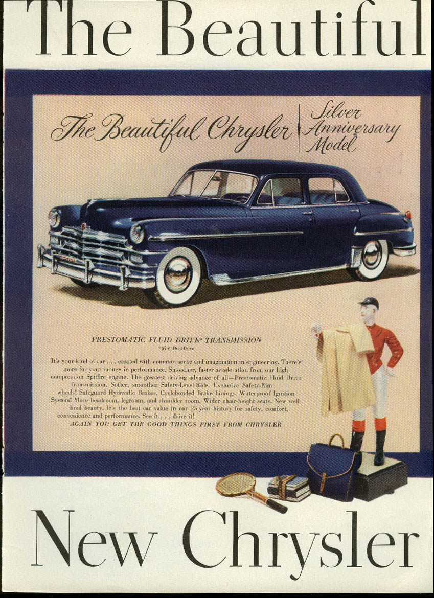 Image for The Beautiful Chrysler New Yorker Sedan Silver Anniversary Model ad 1949