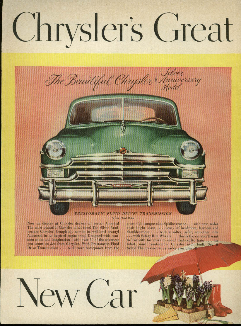 Image for Chrysler's Great New Car Silver Anniversary Model ad 1949
