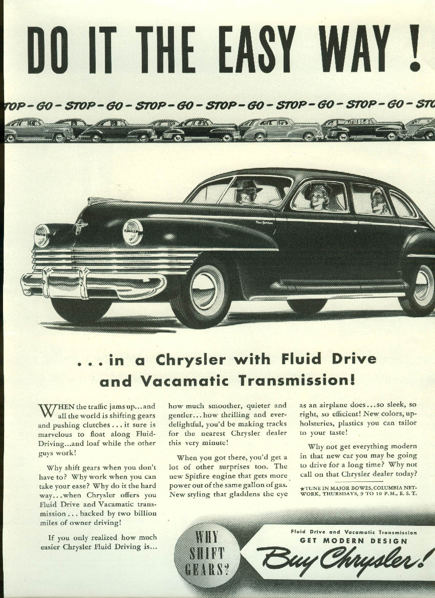 Image for Do it the easy way with Chrysler Vacamatic Transmission ad 1942 New Yorker