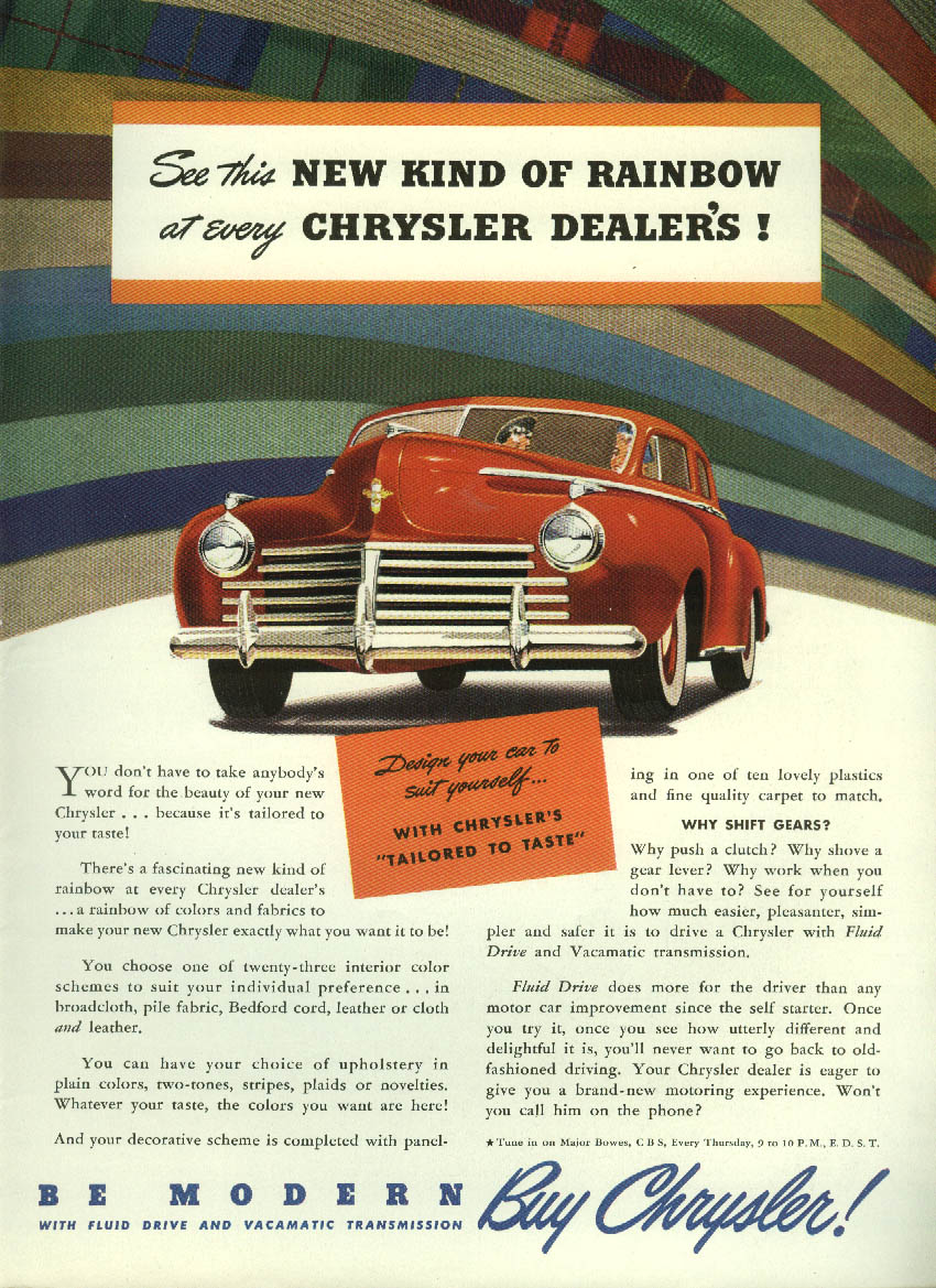 Image for See this new kind of Rainbow at every Chrysler Dealer's ad 1941