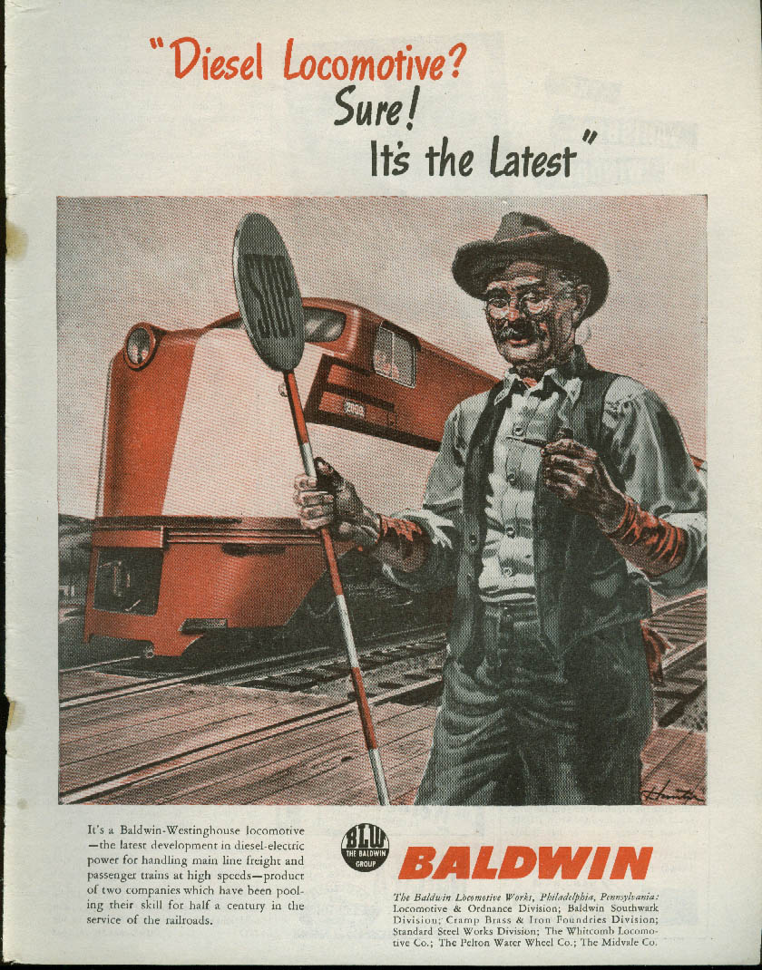 Image for Diesel Locomotive? Sure! The latest Baldwin-Westinghouse loco ad 1945