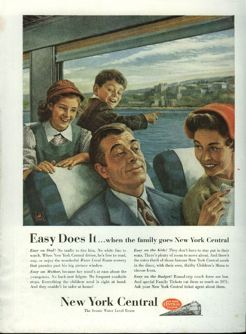 Image for Easy does it when the family goes New York Central ad 1954