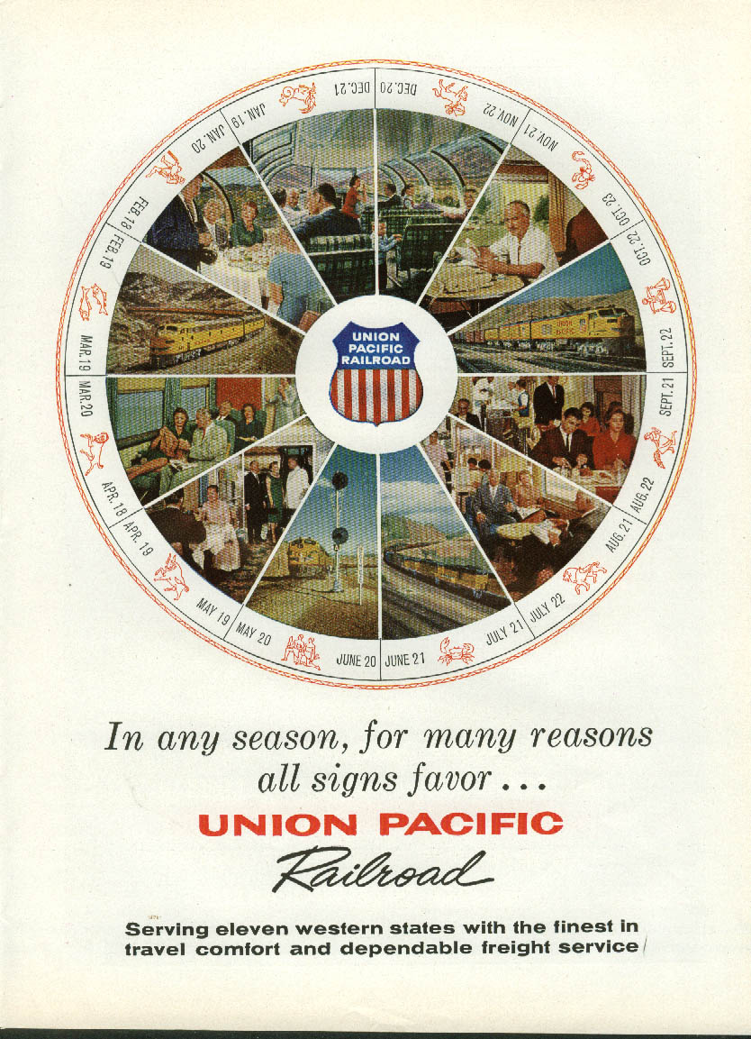 In Any season For many reasons All signs favor Union Pacific Railroad ad 1960
