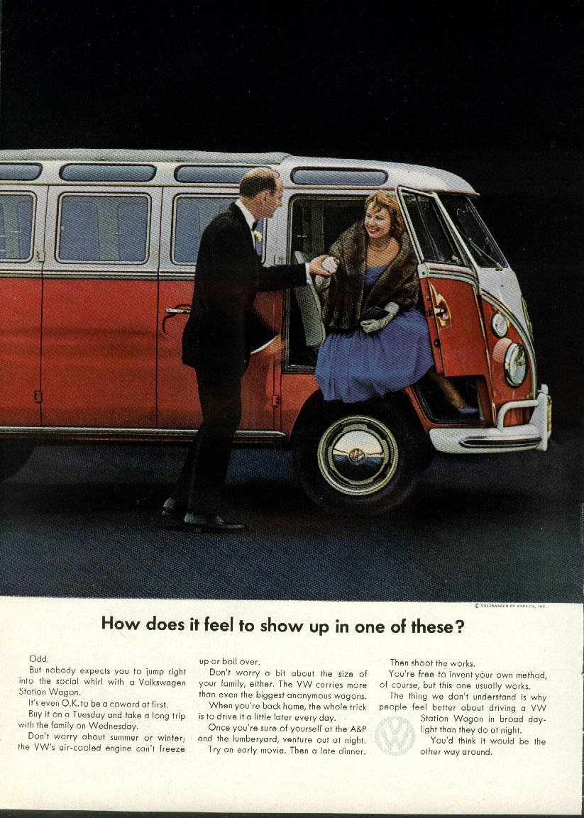 How does it feel to show up in a Volkswagen Station Wagon? Ad 1964