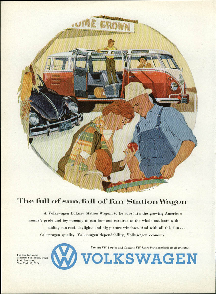 Image for The full of sun, full of fun Station Wagon by Volkswagen ad 1958