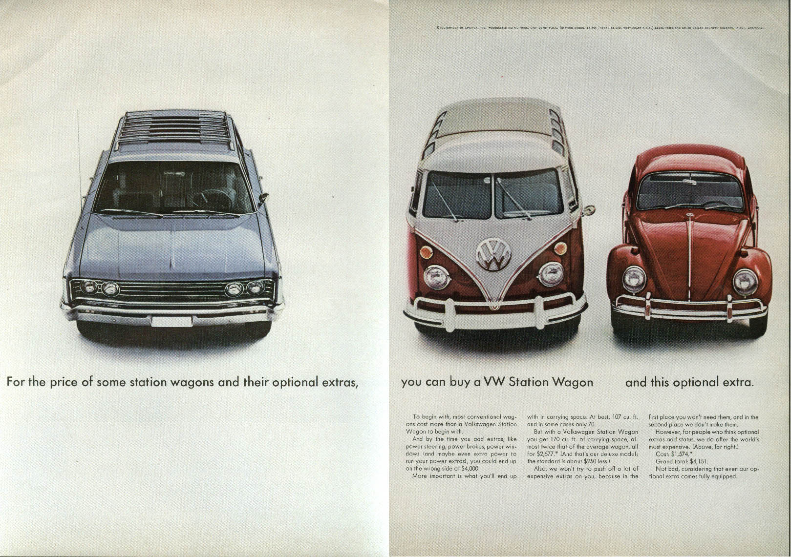 Image for For the price of this, buy a Volkswagen Station Wagon w/ this Option ad 1966