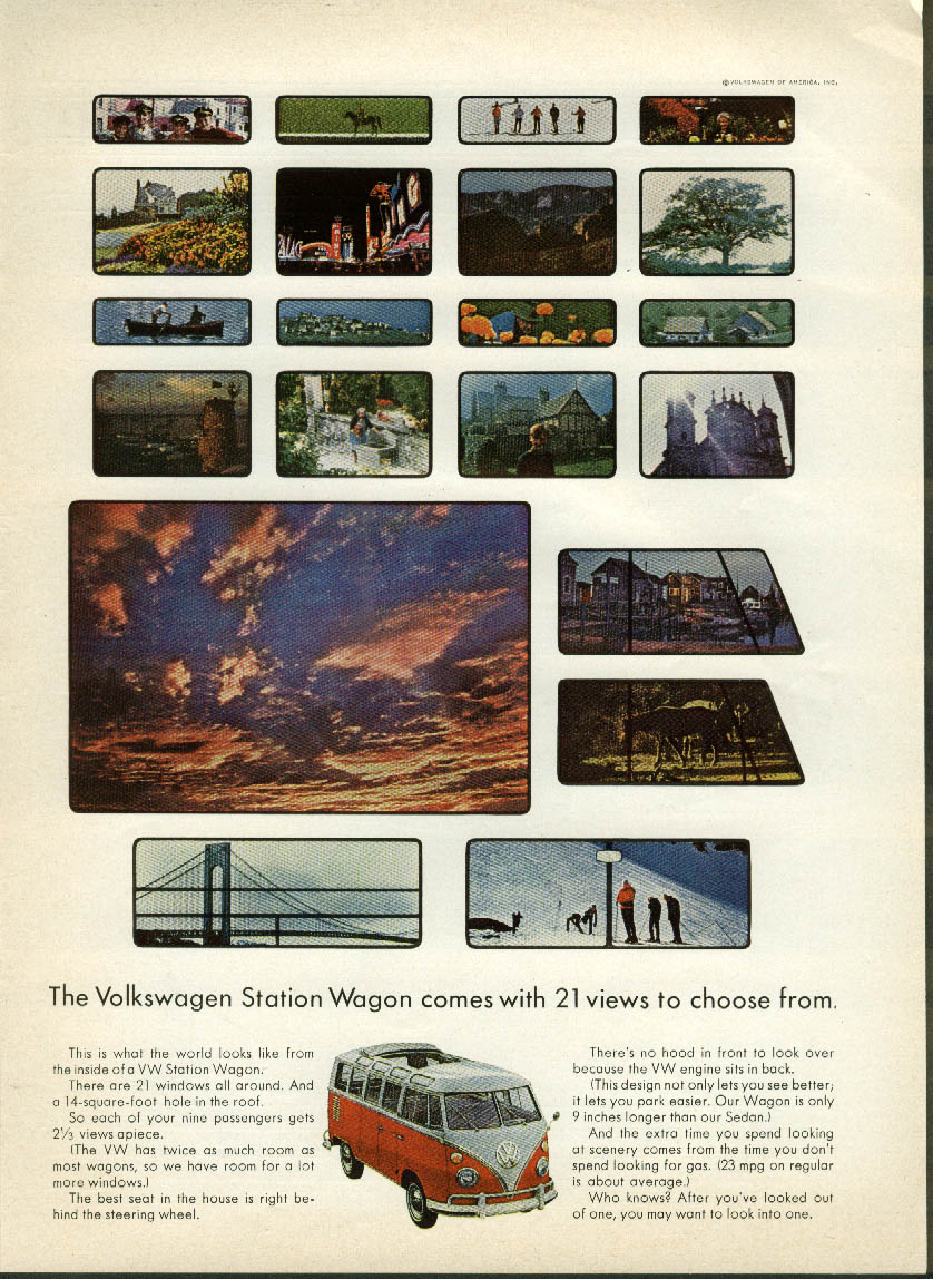 Image for The Volkswagen Station Wagon comes with 21 views to choose from ad 1965