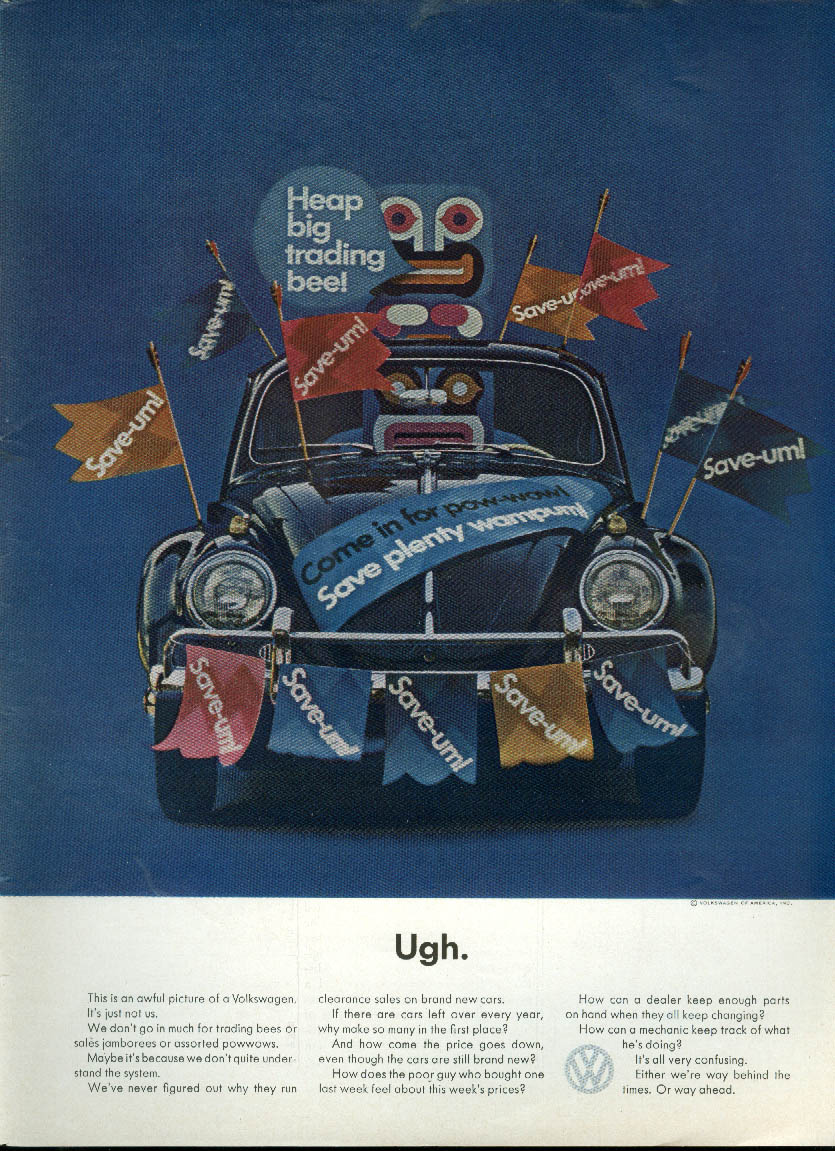 Image for Ugh. This is a terrible picture of a Volkswagen - it just isn't us ad 1964