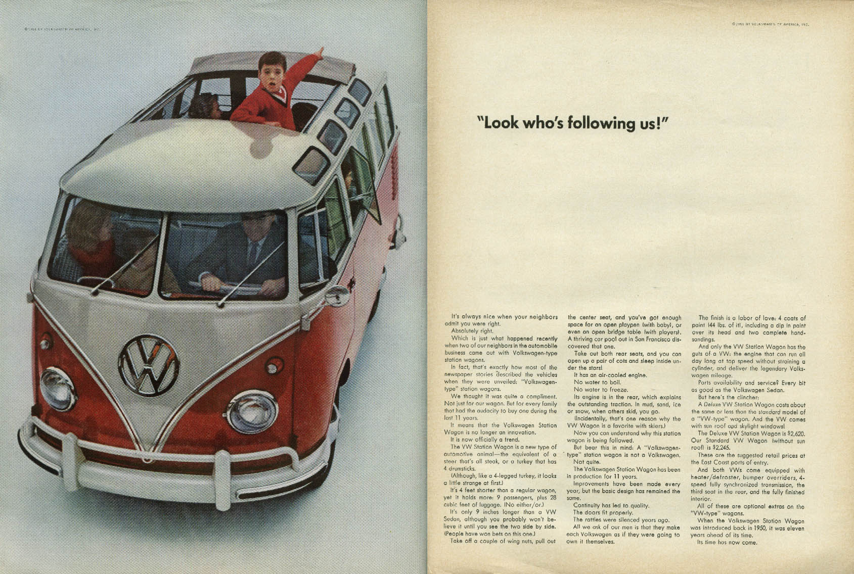 Image for Look who's following us! Volkswagen Station Wagon ad 1961