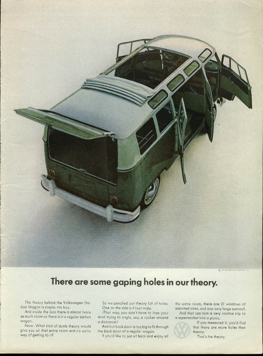 Image for There are some gaping holes in our theory Volkswagen Station Wagon ad 1964