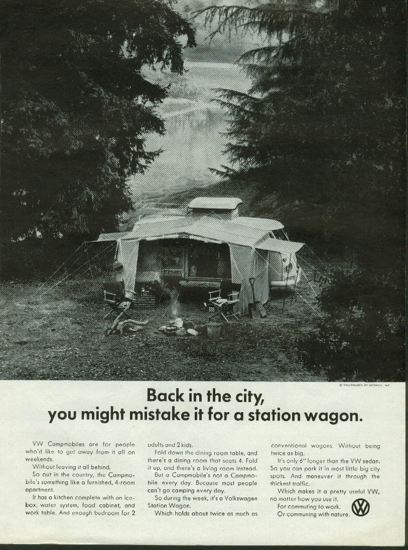 Image for Back in the city you might mistake it for a Station Wagon. Volkswagen ad 1967