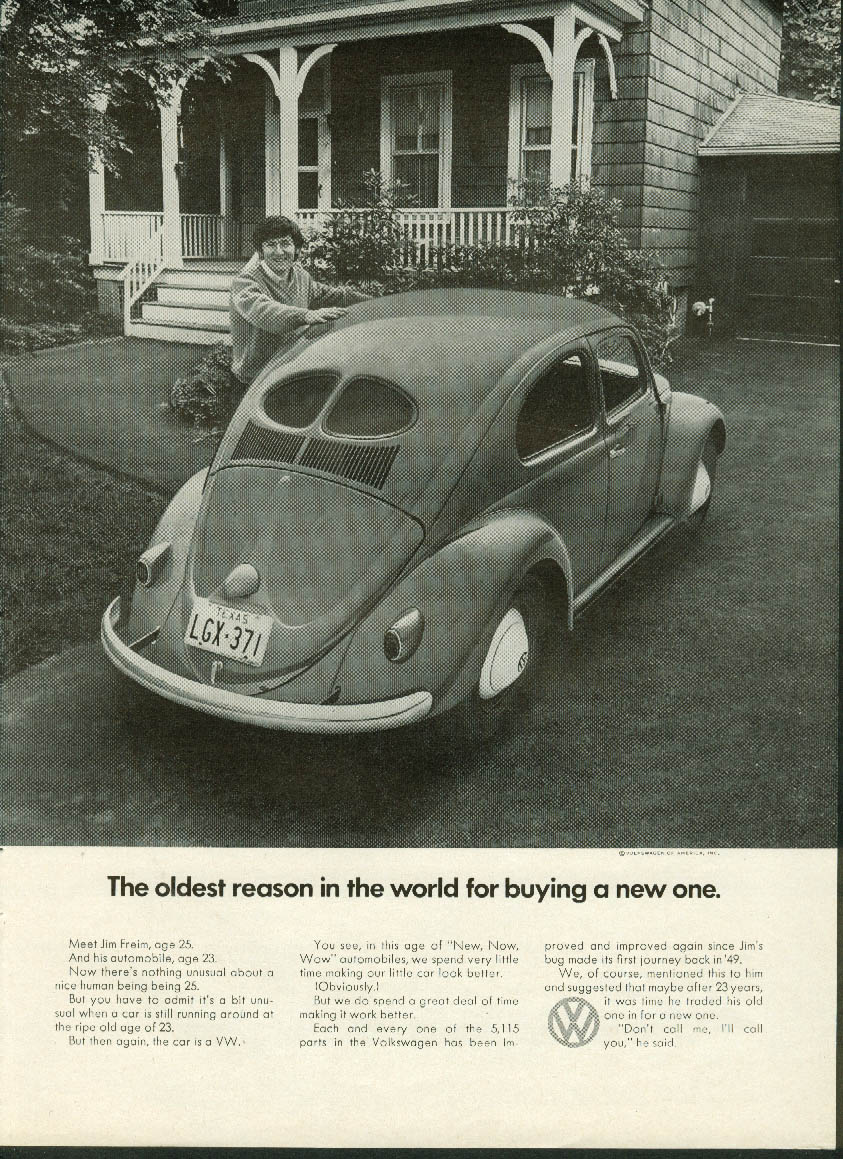 Image for The oldest reason in the world for buying a new one Volkswagen ad 1971